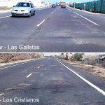 Adjudicarán asfaltado de la TF-655, Guaza-Los Cristianos y TF-66 hasta el Fraile