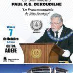 Conferencia publica en Adeje de la Gran Logia Unida de Francia