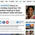 Información alarmista en Medios Británicos sobre terremotos en Tenerife
