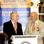 El gobernador del Distrito 2201 del Rotary Club visita a Tenerife