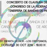 Clausura del Congreso de la Federación Tinerfeña de Bandas de Música en Arona