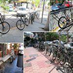 Los Cristianos abarrotado de bicicletas. Sí, al uso de las bicicletas. No, al descontrol