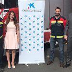 """""""La Caxia"""" sigue apostando por los Bomberos Voluntarios de Adeje"""