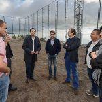 Visita a las obras de mejora del campo de fútbol El Mayato, en Guía de Isora