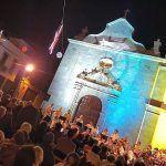 Gran concierto navideño de la Parranda Chasnera en la plaza de la Iglesia de Granadilla