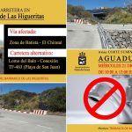 Corte de tráfico en el barranco de Las Higueritas