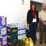 El Mando de Canarias dona alrededor de 500 kilos de productos al ayuntamiento de Adeje