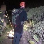 Parapentista de El Médano rescatado en el acantilado de Teno
