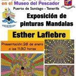 Exposición de pinturas Mandalas de Esther Lafiebre en el Museo del Pescador