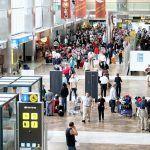 El tráfico de pasajeros del Aeropuerto de Tenerife Sur aumentó un 5,9% en febrero