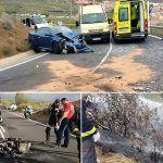 Bomberos de Tenerife intervienen en varios accidentes de tráfico en el Sur