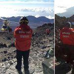 El operativo de emergencia concluye con éxito el rescate en el Teide
