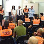 Santa Cruz acoge un curso de salvamento acuático para voluntarios de Protección Civil
