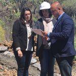 Ayuntamiento y Cabildo inician el proyecto de mejora de la pista agrícola La Hurtada