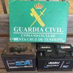 Detenidos cuatro hombres por robar las baterías de los coches en Granadilla