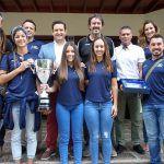 Las campeonas de la Superliga 2 de Voleibol femenino visitan el Ayuntamiento de Arona