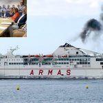 Prevén que se evapore entre el sábado y el domingo la mancha de gasoil del accidente del ferry