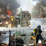 Bomberos de Tenerife extinguen un incendio en un basurero en Granadilla