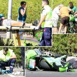Motorista herido al colisionar con un coche en Alcalá, Guía de Isora
