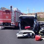Accidente de tráfico en la TF1 a la altura de Arico