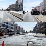 El asfaltado de la travesía de Los Abrigos está en su etapa final