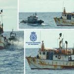 El pesquero venezolano con 2.400 Kg de cocaína fue localizado y abordado en aguas del Atlántico