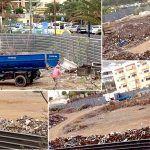 Vecinos molestos por los escombros con basura dejados en un solar frente al Arona Gran Hotel