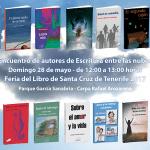 La Feria del Libro de Santa Cruz acoge un encuentro literario de autores de Escritura entre las nubes