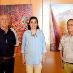 Se inauguró la exposición colectiva de pintura en el Museo del Pescador en Puerto Santiago