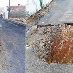 CCN de San miguel denuncia el abandono de unas obras de canalización en El Roque