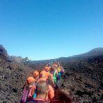 Casi 130 jóvenes de San Miguel disfrutaron de una ruta guiada por el Parque Nacional del Teide