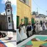Tradición y colorido con motivo de la festividad del Corpus en  Granadilla de Abona
