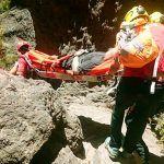 Rescatan a un senderista herido tras caída en un barranco de Masca