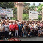 Unos 60 mayores de San Miguel de Abona disfrutaron de las alfombras de La Orotava