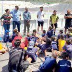 El campus de fútbol 'Quico de Diego' congrega a más de 70 niños y niñas en El Médano