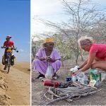 La periodista grancanaria que da la vuelta al mundo en bicicleta contra la violencia hacia la mujer