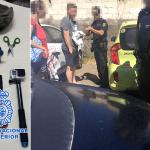 Detienen a dos hombres forzando coches con el método de la ventosa en Las Teresitas