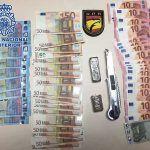 Detenido con 38,8 gramos de hachís, 1.235 euros y un cúter en Las Palmas