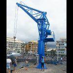 El Gobierno de Canarias repara la grúa del puerto de Puerto de La Cruz