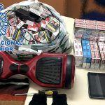 Detenido por robar 241 cajetillas de tabaco, una tableta electrónica y un patinete eléctrico