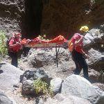 Rescatan a dos personas en el barranco de Masca