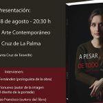 """El libro de aforismos """"A pesar de todo"""", de Belén Lorenzo Francisco, se presenta en La Palma"""