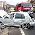 Bomberos de Tenerife intervienen en un accidente de tráfico en La Guancha