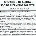 El Cabildo declara alerta por alto riesgo de incendios forestales en Gran Canaria