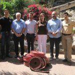 El Consorcio de Bomberos de Tenerife dona material contra incendios a Loro Parque