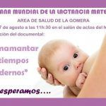 Charla-debate en La Gomera con motivo de la Semana Mundial de la Lactancia Materna