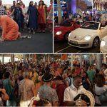 Los colores y la espiritualidad de la India en la clausura del Ratha Yatra en Arona