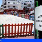 """Cs exige instalar """"de una vez por todas"""" el parque infantil en la Plaza Roja en El Médano"""