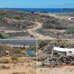 Guardia Civil desaloja más de 30 acampadas ilegales en Playa de Las Burras en Las Galletas