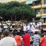 Un guiso marinero de calamar en una olla gigante este sábado en Los Cristianos